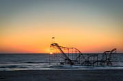 Roller Coaster Sunrise Print by Michael Ver Sprill