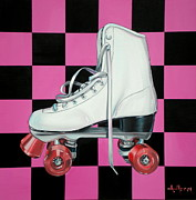 80s Metal Prints - Roller Skate Metal Print by Anthony Mezza