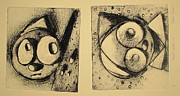 Cartoon Drawings Originals - Rollie1 and Rollie 2  archived by Charlie Spear