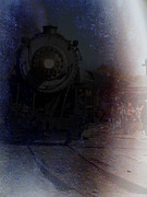 Steam Locomotives Digital Art Posters - Rolling back into harbor Poster by Steven  Digman