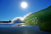 Blue Green Wave Photos - Rolling Glass by Paul Topp