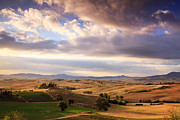 Tuscan Hills Photos - Rolling hills of Tuscany by Matteo Colombo