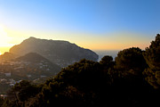 Italian Landscape Photo Posters - Rolling Landscape Of Capri As Day Ends Poster by Mark E Tisdale