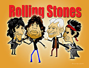 Rolling Stones Digital Art Originals - Rolling Stones  by Alexander Dupree