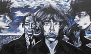 Kevin J Cooper Artwork - Rolling Stones Black and...