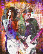 Keith Richards Mixed Media - Rolling Stones by David Plastik and Ryan Rabbass