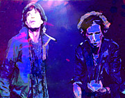 Rolling Stones Mixed Media Posters - Rolling Stones Doing it Poster by Brian Reaves
