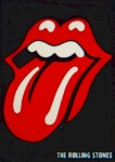 Rolling Stones Mixed Media Metal Prints - Rolling Stones Emblem Metal Print by Gunter  Hortz