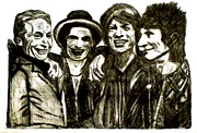 Featured Drawings Framed Prints - Rolling Stones Framed Print by Lynette  Swart