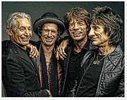 Stones Digital Art Prints - Rolling Stones Print by Riccardo Zullian