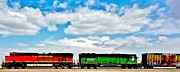 Bnsf Framed Prints - Rolling Through New Mexico Framed Print by Benjamin Yeager