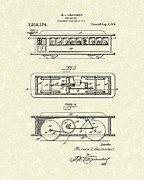 Railroad Drawings - Rolling Toy 1919 Patent Art by Prior Art Design