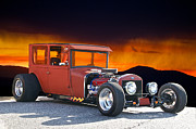 Ford Tudor Framed Prints - Rolln Rat Rod Framed Print by Dave Koontz
