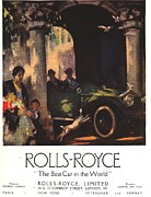 Nineteen-tens Drawings - Rolls-royce 1917 1910s Uk  Cars by The Advertising Archives