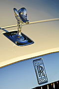 Collector Hood Ornament Metal Prints - Rolls-Royce Hood Ornament 3 Metal Print by Jill Reger