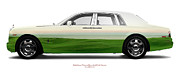 Limo Posters - Rolls-Royce Phantom Brora Golf Club Sunset Poster by Jan Faul