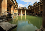 Roman Baths Framed Prints - Roman Baths Framed Print by Paul Cowan