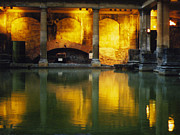 Roman Baths Framed Prints - Roman Baths Framed Print by Little Black Lens    Photography