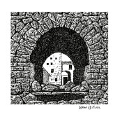 Part Of Drawings - Roman Bridge Arch by Brian Ceitinn