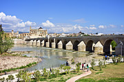 Medieval Temple Photo Prints - Roman Bridge in Cordoba Print by Artur Bogacki