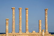 Roman Columns Prints - Roman Columns at Sabratha Print by Robert Preston