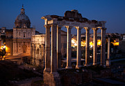 Den Decor Photo Prints - Roman Forum at Night Print by John Daly
