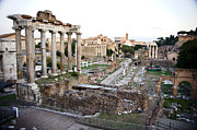 Roman Ruins Metal Prints - Roman Forum Metal Print by Jim  Calarese