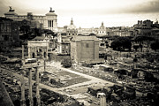 Roman Empire Prints - Roman Forum Survey Print by David Waldo