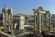Vitruvius Photo Posters - Roman Forum  Poster by Tony Murtagh