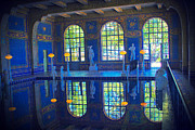 Neptune Posters - Roman Pool Reflection Hearst Castle Poster by Heidi Smith