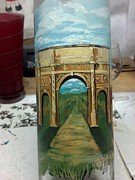 Architecture Glass Art Originals - Roman ruins by Dan Olszewski