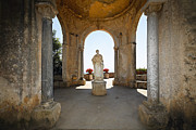 Historic Site Framed Prints - Roman Sculpture in an Amalfi Coast Villa Framed Print by George Oze