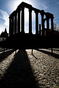 Roman Archaeology Art - Roman Temple Silhouette by Jose Elias - Sofia Pereira