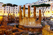 Ancient Ruins Photos - Roman temples by Fabrizio Troiani