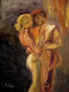 Dancing Painting Framed Prints - Romance Framed Print by Donna Tuten