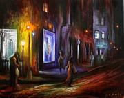 New Generations Painting Prints - Romance in the City Print by Chin H  Shin
