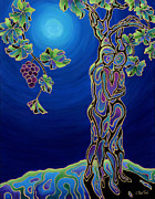 Vine Grapes Painting Posters - Romance on the Vine Poster by Sandi Whetzel