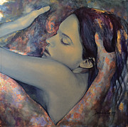 Embrace Paintings - Romance with a Chimera by Dorina  Costras