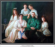 Duchess Paintings - Romanov family portrait by George Alexander