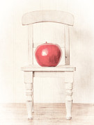 Chair Photo Metal Prints - Romantic Apple Still Life Metal Print by Edward Fielding