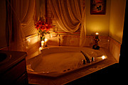 Kkphoto1 Posters - Romantic Bubble Bath Poster by Kay Novy