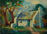 Thomas Bertram Poole Prints - Romantic Cape Cottage Print by Thomas Bertram POOLE