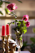 Candelabra Metal Prints - Romantic dinner Metal Print by Emanuel Tanjala