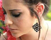 Large Earrings Jewelry - Romantic Floral Earrings by Rony Bank