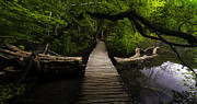 Pentecost Photos - Romantic Footbridge  by Jens Tischer