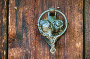 Romantic Prints Posters - Romantic Kissing Door Knocker Poster by James Bo Insogna
