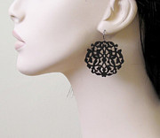 Large Earrings Jewelry - Romantic Lace Earrings by Rony Bank