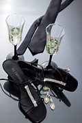 Champagne Glasses Photos - Romantic night by Kim M Smith