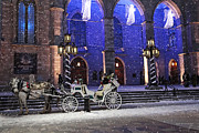 Quebec Mixed Media - Romantic Night Lights Ride in Old Montreal?   by Alex Khomoutov