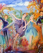 Ballet Dancers Paintings - Romantic notions by Judith Desrosiers